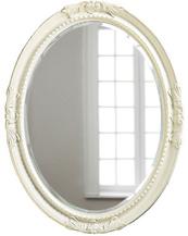 Овальное зеркало в раме Parigi White (Париж), (PRFA398WT)