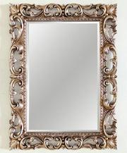 Зеркало в резной раме Oxford Silver (Оксфорд),  (PUMH2017SL)