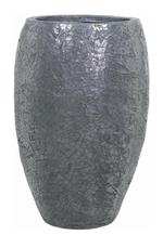 Уличное кашпо Crackle серая сталь (FA17337)