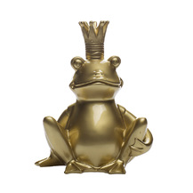 """Статуэтка """"Лягушка-Король"""" (золотая) (D2318)"""