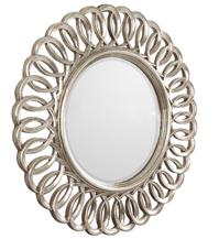 Круглое зеркало в раме Kimberly Silver (Кимберли), Ø90 см(FA110SL)