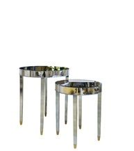 Комплект 2 зеркальных стола (KF-13163)