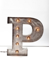 Стальная Буква P (12026)
