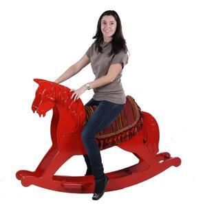 Качалка «Лошадь» - черная  большая (71027  Black)